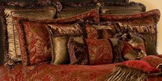 Luxury Bedding High-End Luxury Old World Bedding Sets ♥ thwarted colors. Not really the bedspread style though
