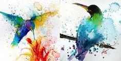 Conocé estos increíbles dibujos hechos con acuarelas | Pulso Urbano