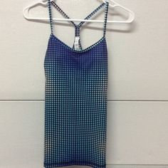 NWT beautiful Limited Edition Lulu Power Y Tank Gorgeous , one of a kind multi color polka dot Lululemon Size 6 Power Y Tank; purple/turquoise/black; Brand new with tags lululemon athletica Tops Tank Tops