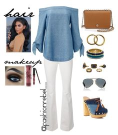 """""""Denim&White"""" by jestineee on Polyvore featuring STELLA McCARTNEY, Free People, Shellys, Tory Burch, House of Harlow 1960, Chanel, Kylie Cosmetics and Givenchy"""
