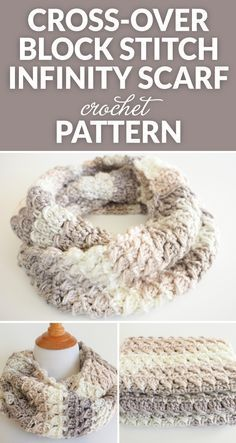 This Cross-Over Stitch Infinity Scarf is the perfect thing to for a special someone this keep you warm this winter: FREE crochet pattern. #ilovecrochet #crochetpattern #crochetlife #crochetinspiration #crochetdesign #crochetscarf #moderncrochet #chunkycrochet