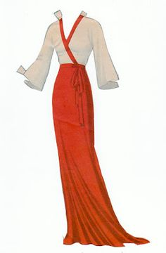 The Paper Collector: Elegant Ann Sothern The third and last Ann Sothern doll from the 1943 Saalfield book. Ann Sothern, Paper People, Vintage Paper Dolls, Doll Patterns, Playing Dress Up, Evening Gowns, Two Piece Skirt Set, Fashion Outfits, Formal Dresses