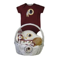 Make your baby shower gift even better with this #Redskins themed baby gift basket!