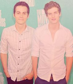Dylan O'Brien and Daniel Sharman ❤ two of my fav people on teen wolf❤