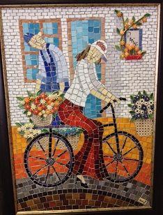 Mosaic, Landscapes, Painting, Art, Paisajes, Art Background, Scenery, Mosaics, Painting Art