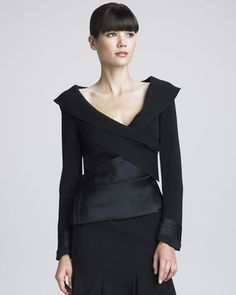 Donna Karan - Sculptural Cross-Front Jacket
