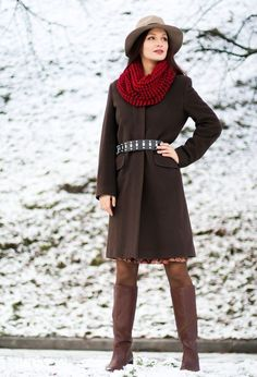 @roressclothes closet ideas #women fashion outfit #clothing style apparel Stylish Outfit Idea with Scarf