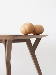 Trees and Rocks table, made of solid oak and veneered wood oak.