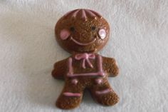 Avon Gingerbread Boy Pin Brooch with Compact by NannasVintageAttic, $12.75