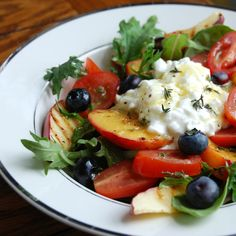 Grilled Summer Salad by hungryfoodies #Salad #Summer #Fruit #Grill #Healthy