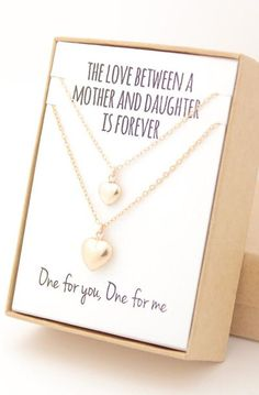 Mother and Daughter Necklaces - Mother's Day Jewelry