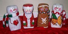 Ideas para reutilizar frascos de Nescafé - Dale Detalles Snowman Christmas Ornaments, Christmas Jars, Christmas Deco, Christmas Crafts, Coffee Jar Crafts, Coffee Jars, Decoupage Jars, Pot Mason, Art Drawings For Kids