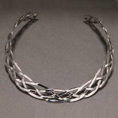 Gargantilla de plata, choker in sterling silver