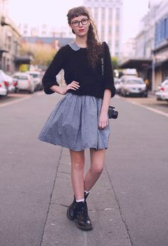 Twenty Seven Names Lola Dress, Glassons Jersey, Dr. Martens Doc Marten Boots
