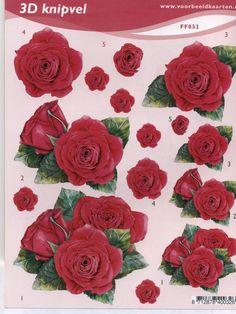 planche 3d fleur | 3d decoupage a 3d karty | pinterest | 3d