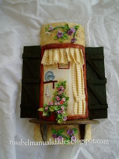Decoupage, Biscuit, Clay Houses, Mini Plants, Roof Tiles, Fairy Houses, Little Houses, Gingerbread, Diy And Crafts