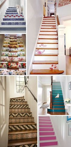 3 ways to really make an entrance - wallpaper, art and creative stairs...
