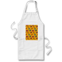 Birds - Abstract Purple Hawks & Blue Chickens Apron