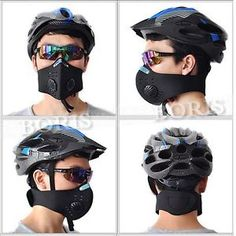 Boris cold weather anti pollution mask. Great for winter, biking or during high particle pollution. One way exhaust vents prevent moisture build up. #tech #winter #clothing