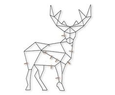 """Uchwyt na kartki """"Reindeer"""", 78 cm"""