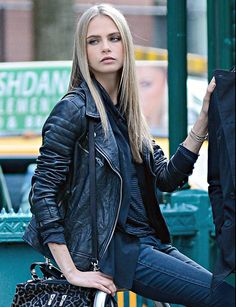 Cara shooting the DKNY A/W 2013 Campaign in New York #2
