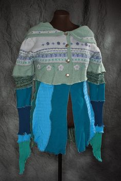 Items similar to Katwise Inspired Cardigan Hoodie. Size Med/Lg on Etsy Green Cardigan, Metal Buttons, Sage, Wool Blend, Cuffs, Closure, Inspired, Hoodies, Denim