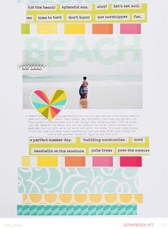 Beach *Main Kit Only* by Kelly Noel at @Studio_Calico - digital template #SChellohello