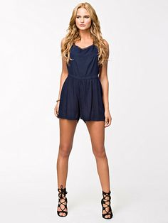 halterneck playsuit
