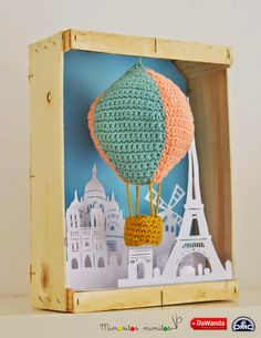 El blog de Dmc: Un globo aerostático de amigurumi XL