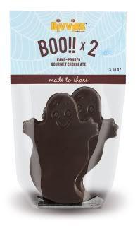 Allergen-free chocolate ghosts! No nuts, no dairy, no eggs.