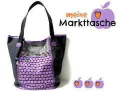 ambaZamba: SEW ALONG bei Emma | Taschenspieler 2 | Markttasche Pouch, Wallet, Like Animals, Sewing Hacks, Purses And Bags, Diy Projects, China, Shoulder Bag, Purple