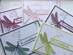 in colour festival day 3 of 7 mini note cards Stampin' Up! products - YouTube