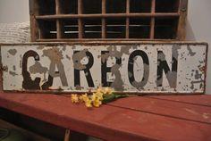 Vintage Metal Sign CARBON, Geek Chic