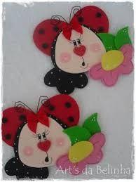 Resultado de imagem para cuadernos decorados en goma eva de mariquitas
