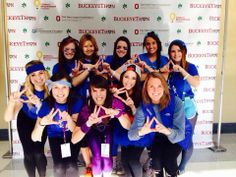 Kappa Deltas throwing what they know at Buckeyethon! Buckeyethon is tOSU's 24 hour dance marathon benefitting kids with cancer