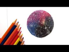 Tutorial: how to draw a starry night sky in coloured pencils - YouTube