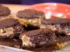 Triple Chocolate Ice Cream Sandwiches recipe from Dave Lieberman via Food Network