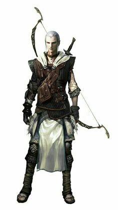 Elf Fighter Archer - Pathfinder PFRPG DND D&D d20 fantasy