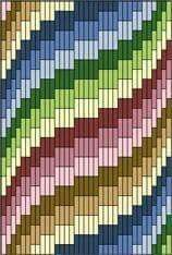 Discover thousands of images about Bargello Fantasy Needlepoint, Periwinkle variations Bargello Quilt Patterns, Bargello Needlepoint, Bargello Quilts, Needlepoint Stitches, Needlework, Plastic Canvas Stitches, Plastic Canvas Crafts, Plastic Canvas Patterns, Bordado Tipo Chicken Scratch