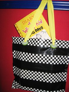 We are creating these great totes from Duct tape & Ziploc bags. Super easy craft! Just layer tape over the bags and they have a great zip closure! I added bottlecaps to jazz it up. Program is for grades 4-6. Are you making anything fun for Earth day?
