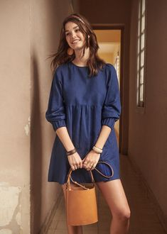Sézane - Candice Dress Frock Fashion, Fashion Dresses, Casual Dresses, Short Dresses, Western Outfits, Parisian Style, Summer Outfits, Mini Skirts, How To Wear