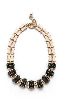 Elizabeth Cole Chunky Stone Necklace