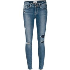 Blue stretch cotton 'Verdugo' skinny jeans   from Paige.