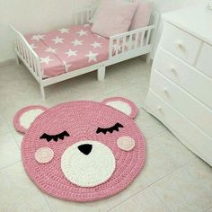Animal Nursery Rugs are a great way to add adorable life to your nursery décor. These amazing rugs make the perfect back drop for newborn photos. Elephant Rug Crochet, Crochet Bear, Cute Crochet, Crochet For Kids, Crochet Dolls, Crochet Summer, Animal Rug, Bear Rug, Childrens Rugs