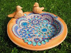 bird bath (janabeerhold.de) Tags: birds garden birdbath mosaic terracotta