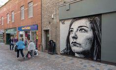 "Mural by Nils Westerdag - ""Kaiya"" - for Sand, Sea & Spray - Blackpool's Urban Art Festival - Blackpool, UK - Jun 2015"