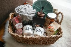 Wedding Gifts Diy A perfect gift for newlyweds or any couple. (Housewarming gift too!) A cozy morning gift basket idea. - A perfect gift for newlyweds or any couple. (Housewarming gift too!) A cozy morning gift basket idea. Fall Gift Baskets, Coffee Gift Baskets, Housewarming Gift Baskets, Christmas Gift Baskets, Coffee Gifts, Basket Gift, Housewarming Wishes, Coffee Mugs, Coffee Beans
