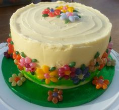 JELLY BELLY BEANS BIRTHDAY CAKE (3 coloured layers)