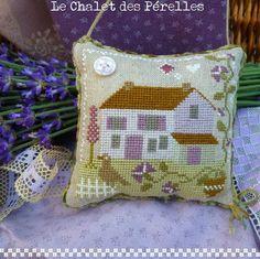 free lavande cross stitch pdf / fill with lavender