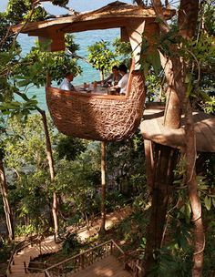 Thailand is constantly finding new ways to surprise me.  This time with a birds-nest restaurant.  I think that this may make it to my bucket list.